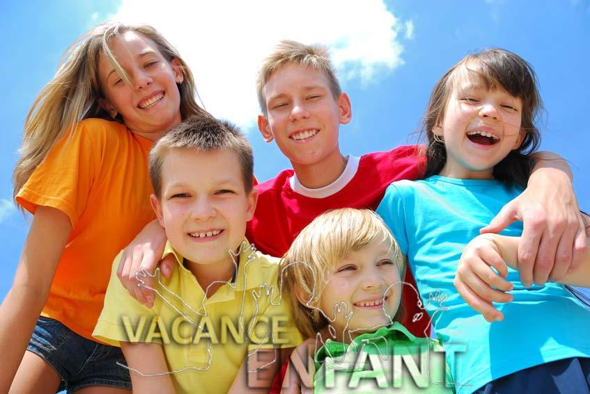 Portrait de groupe pour ces gamins en vacances