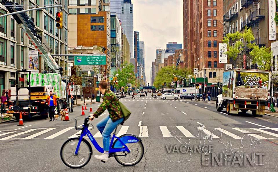 Séjour linguistique en vélo sur la 10ème rue de Neaw-York aux Etats-Unis