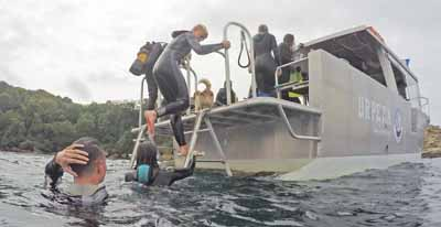 Sortie plongée sous-marine en séjour de vacances