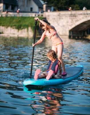 Sortie paddle pour ces 2 jeunes partis en colonie de vacances